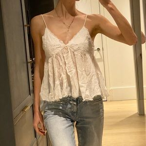 Free people white camisole XS
